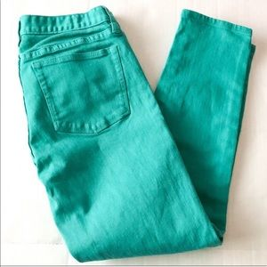 J. Crew Teal Toothpick Ankle Jeans - 26